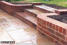Image result for curved garden steps