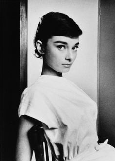 Audrey Hepburn photographed by George Daniell in Rome, 1955.