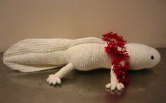 Crocheted axolotl