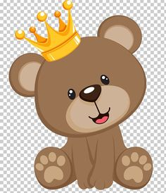 brown bear with crown illustration, Teddy bear Baby shower Infant , topo transparent background PNG clipart Baby Shower Oso, Teddy Bear Baby Shower, Crown Illustration, Monkey Illustration, Cute Disney Wallpaper, Cute Cartoon Wallpapers, Imprimibles Gratis Baby Shower, Marcos Para Baby Shower, Elephant Baby Showers