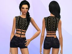 Puresim's Studded Outfit