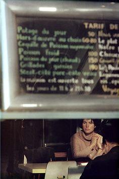 Artist: Saul Leiter Title: Menu, Paris Year: c. 1959 Edition: of 10 Medium: Chromogenic print, printed later Size: 50 x 40 cm FIFTY ONE Fine Art Photography Gallery - Artists Contemporary Photography, Artistic Photography, Vintage Photography, Film Photography, Fine Art Photography, Street Photography, Documentary Photography, Saul Leiter, Pittsburgh