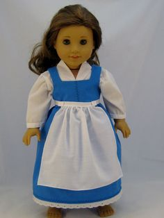 American Girl sized  Belle Provencial Dress by enchanteddesigner, $34.00
