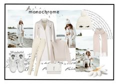 """""""monochrome"""" by piccolachic ❤ liked on Polyvore featuring WALL, Kate Spade, Vans, Valentino, Topshop, Ralph Lauren, Vanessa Seward and Yves Saint Laurent"""