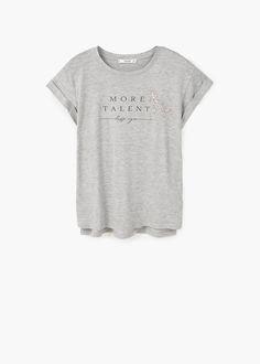 Message beaded t-shirt | MANGO