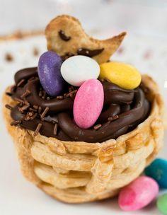 Cestinha folhada com mousse de chocolate (Foto: Divulgao)