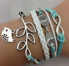Vintage Infinity Silver Owl Leaf Bird Bracelet Only $3.19 Shipped http://ginaskokopelli.com/vintage-infinity-silver-owl-leaf-bird-bracelet-only-3-19-shipped/