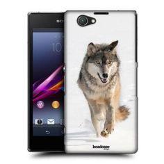 Pouzdro na mobil Sony Xperia Z1 Compact D5503 HEAD CASE DIVOČINA - VLK