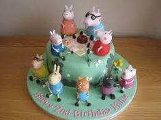 Resultado de imagen de peppa pig fondant cake