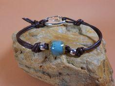 Mens leather bracelet mens beaded bracelet by GoingTribal on Etsy, $30.00