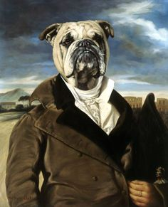 Portrait of Aristocrat With Dogs' Head - Thierry Poncelet - Anthropomorphic