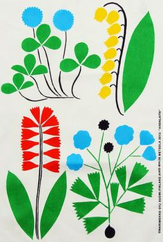 print & pattern: MARIMEKKO - part one Textile Patterns, Textile Design, Fabric Design, Print Patterns, Floral Patterns, Pattern Illustration, Botanical Illustration, Pattern Art, Pattern Design