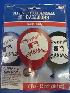 MLB Pro Major League Baseball Sports Banquet Party Decoration Latex Balloons…