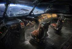 Dead Space 3 Concept Art by Jens Holdener Spaceship Interior, Spaceship Art, Spaceship Design, Arte Sci Fi, Sci Fi Art, Station Orbitale, Robot Militar, Space Opera, Starship Concept