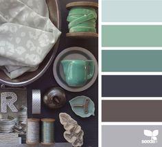20 New ideas for bathroom colors green design seeds Purple Color Palettes, Colour Pallete, Colour Schemes, Color Combinations, Design Seeds, House Doctor, Bathroom Colors, Bathroom Green, Color Swatches