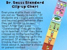 Dr. Seuss Standard clip-up chart (Chevron)!