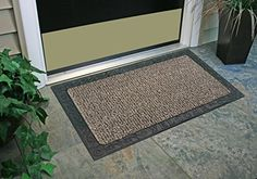 GrassWorx Omega Doormat, by Earth Taupe Clean machine technology holds and hides over one pound of dirt Less dirt enters your home, means less cleaning Resists mildew and moisture Great in snow or hot weather Care: Shake out dirt and wash with garden hose Black Door Mats, Black Doors, Funny Doormats, Astro Turf, Clean Machine, Clean Shoes, New Earth, Taupe Color, Natural Cleaning Products