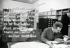 """We collect books in the belief that we are preserving them when in fact it is the books that preserve their collector. I Love Books, Books To Read, Silence In The Library, Book Posters, Activity Ideas, Book Nooks, Book Stuff, Bibliophile, Writings"