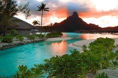 Bora Bora, French Polynesia - no 1 om my list of Dream destinations! Bora Bora, Tahiti, Vacation Places, Dream Vacations, Places To Travel, Tropical Vacations, Dream Trips, Dream Vacation Spots, Romantic Vacations