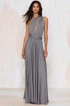 Lioness Voltage Multi Wear Maxi Dress - Gray