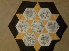 Embroidery Machines, Machine Embroidery Applique, Hexagon Quilt, Hexagons, Embroidery Supplies, Embroidery Ideas, Quilting Ideas, Quilting Projects, Anita Goodesign