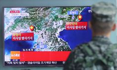 A South Korean soldier at a rail station in Seoul on Friday watched a news report on seismic activity apparently generated by a North Korean nuclear test.