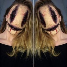 Makeup Looks Halloween Scary 52 Ideas Creepy Halloween Makeup, Scary Makeup, Halloween Makeup Looks, Sfx Makeup, Costume Makeup, Halloween Make Up Scary, Maquillage Harley Quinn, Haunted House Makeup, Maske Halloween