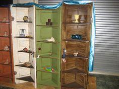 Corner shelves doors