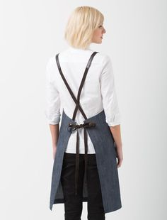 Henry Bib Apron in Bluegrain is a chic blue grey denim in a linen look cafe apron. Made from hardwearing Fight the Fade™ fabric offering durability & superior colour fastness. Bib Apron, Aprons, Cafe Uniform, Cafe Apron, Embroidery Services, Linen Apron, Apron Designs, Blue Tones, Barista