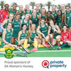 Private Property is a proud sponsor of the South African women's field hockey team. Women's Hockey, Hockey World, Field Hockey, Hockey Players, Private Property, African Women, Finals, Sports, Hs Sports