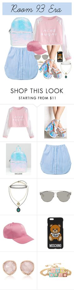 """""""Room 93 Era Halsey-Inspired #259"""" by halseys-clothes ❤ liked on Polyvore featuring Y.R.U., Skinnydip, Ksenia Schnaider, Topshop, Christian Dior, Moschino, Monica Vinader, Hot Topic, halsey and ashleyfrangipane"""