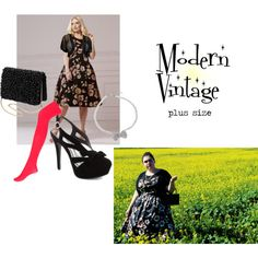 """""""Modern Vintage (Plus Size)"""" by thecurvyelle on Polyvore"""