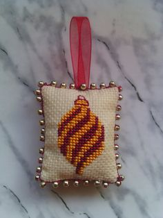 Set of Three Tiny Christmas Ornaments Cross stitch by SiuziDesigns