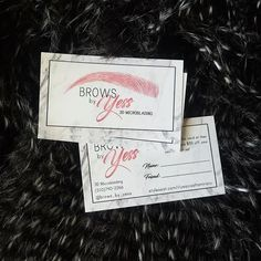 ⋆★⋆ Gorgeous logo and business cards made for @brows_by_yess! I'm so glad these finally showed up, the holidays is making shipments crazy! ⋆★⋆ #OnTheFly #OnTheFlyDesigns #BusinessCards #Modern #Elegant #Microblading #Eyebrows #permanentmakeup #EyelashExtensions #MUA #Makeup #MicrobladingBusinessCards #GraphicDesign #Design #Graphics #Artwork #Logos #DigitalArt #Branding #SmallBusiness #Love #Follow #BlackAndWhite #BlackAndWhiteStripes #StripeBusinessCards #BlackandWhite #Marble