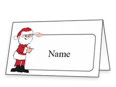 Free Printable Christmas Place Cards | Printables | Pinterest ...