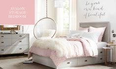 Avalon Bed With Trundle Bedroom