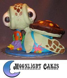 Finding Nemo Squirt Cake - Moonlight Cakes