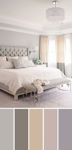 Gray White Beige Neutral Bedroom Color Scheme bedroom design new classic 20 Beautiful Bedroom Color Schemes ( Color Chart Included ) Home Decor Bedroom, Modern Bedroom, Contemporary Bedroom, Master Bedrooms, Bedroom Red, Beige Bedrooms, Light Gray Bedroom, Gray Bedroom Walls, Girls Bedroom