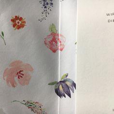 Bedruckter Briefumschlag - Innenfutter bedruckt mit Blumenmuster von carte royale