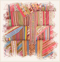 Peruvian textiles are woven from sheep's wool, alpaca and llama. The wool is processed as it always has been, with a drop spindle. Every village has its own weaving patterns. There are thousands of techniques, layouts, styles and practices associated with Peruvian weaving.