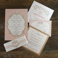 French Baroque Wedding Invitation Vintage by Bdesignsinvitations