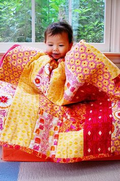 lap quilt with Anna Maria Horner Folksy Flannels