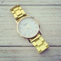 99 Hot Fashion Gold Watch Luxury Geneva Brand Women Dress Watches Men Full Steel Casual Quartz Couple Wristwatches Clock Relogio