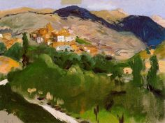 Page: Mountains at Jaca Artist: Joaquín Sorolla Place of Creation: Spain Style: Impressionism Genre: landscape Technique: oil Material: canvas Spanish Painters, Spanish Artists, Abstract Landscape, Landscape Paintings, Monet, Renoir, Oil Canvas, Beauty In Art, Fantasy Setting
