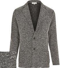 f30496e6c8a0 Black knitted blazer jacket £40.00 Knit Blazer