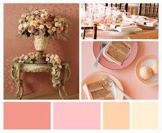 Peach and pinks...