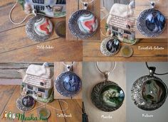 Holdnyaklánc (StoneHEArt) - Meska.hu Crochet Earrings, Diy, Jewelry, Jewlery, Bricolage, Jewerly, Schmuck, Do It Yourself, Jewels