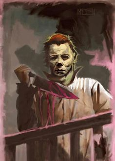Awesome HALLOWEEN portrait of Michael Myers. Artistic credit belongs to the artist. Horror Movie Costumes, Horror Movie Characters, Best Horror Movies, Horror Films, Scary Movies, Horror Villains, Halloween Film, Halloween Horror, Halloween Ideas