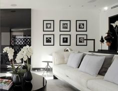 #black and #white #living_room | Evelina Irene