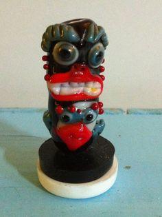 $20.00 totem tiki SRA, 104 glass Sculptures, Glass, Drinkware, Corning Glass, Yuri, Tumbler, Sculpture, Mirrors